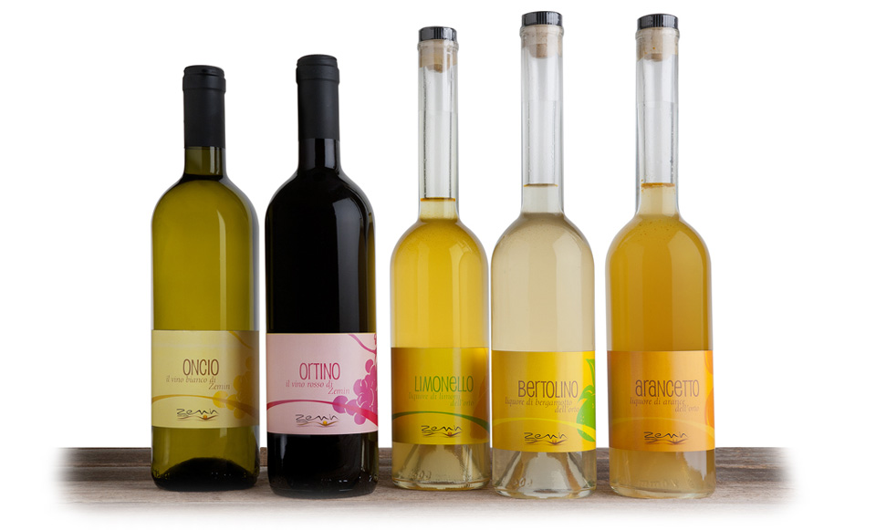 vini e liquori prodotti da Zemin