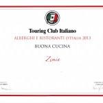 """Premio Touring Club """"buona cucina 2013"""""""